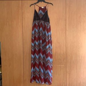 Self Esteem XL Maxi dress with Lace accents